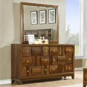 Roundhill Furniture Calais 6 Drawer Dresser with Mirror