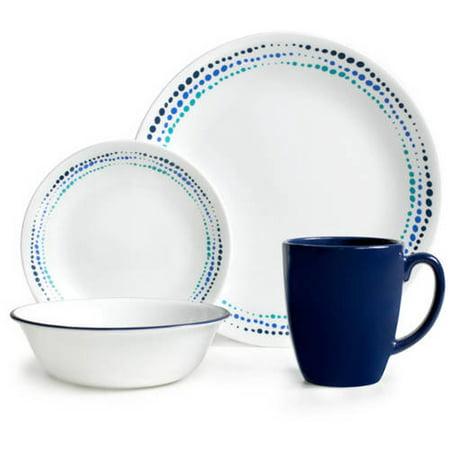 Corelle 16 Piece Livingware Ocean Blues Dinnerware Set