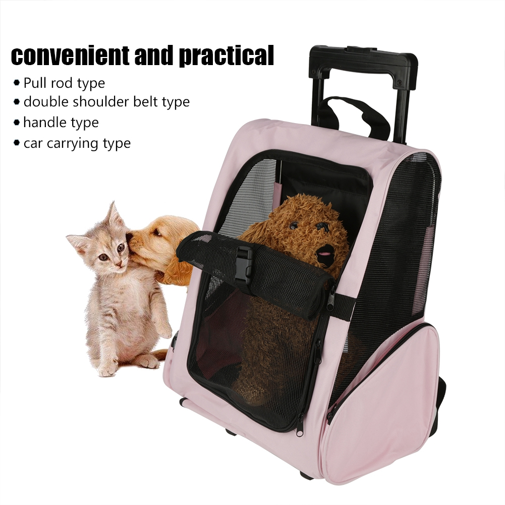 Yosoo Rolling Pet Travel Carrier Large Size Backpack for Dog Cat Multifunctional Pet Wheel Carrier Bag Pet Rolling Carrier Backpack Airline Approved Dog Cat Wheel Around Luggage Bag