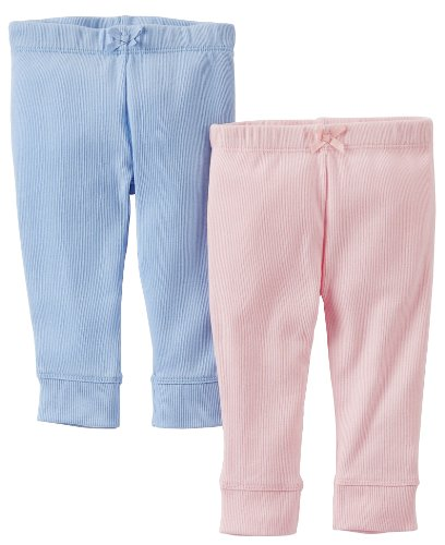 Blue Carters Baby Girls 2 Pack Pants Baby