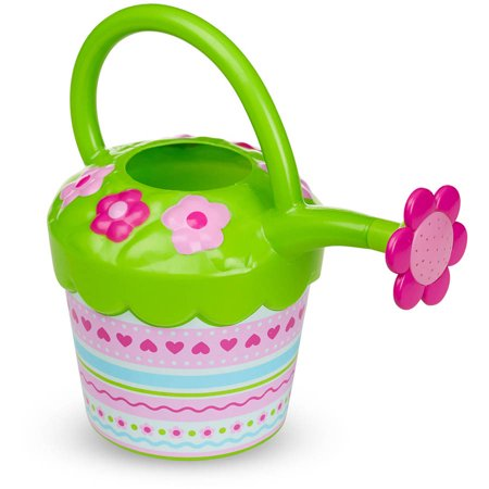 Melissa & Doug Sunny Patch Pretty Petals Flower Watering Can, Pretend Play Toy (Toy Watering Can)