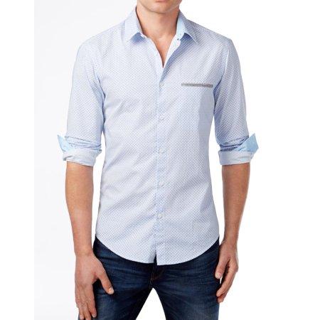 2b870c3e28b HUGO BOSS - NEW Blue Mens Size Large L Modern-Fit Button Down Shirt -  Walmart.com