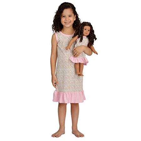 Pink Butterfly Closet Girl and Doll Matching Outfit Clothes - Pajama Nightgown Set for Girl & Doll - Fits American Girl Dolls Size 10 - image 1 of 3