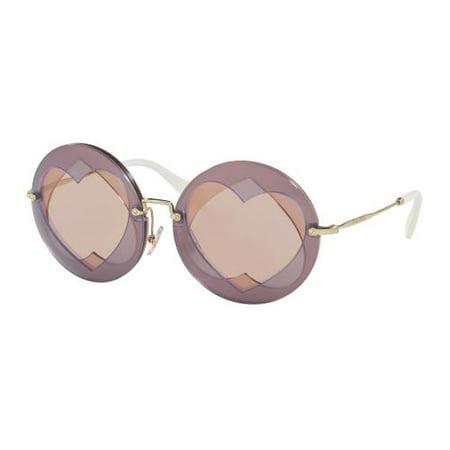 MIU MIU Sunglasses MU01SS VA14M2 Lilac/Pink 62MM ()