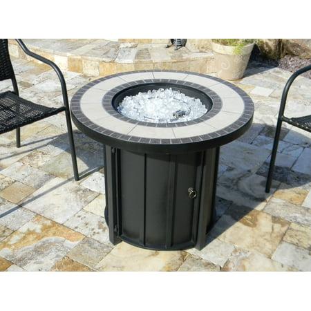 AZ Patio Heaters Round Tile Top Firepit ()