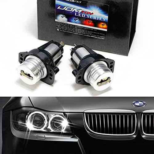 Ijdmtoy 7000k Xenon White 6w High Power Led Angel Eyes For Bmw E90
