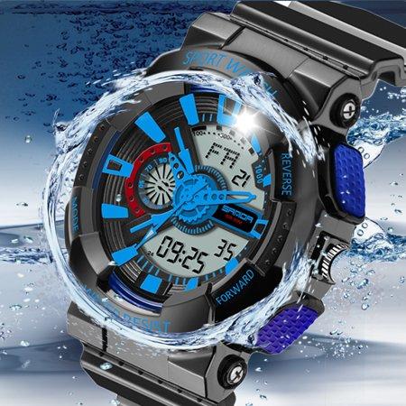 Mens Led Digital Multifunction Waterproof Sport Military Shock Watches