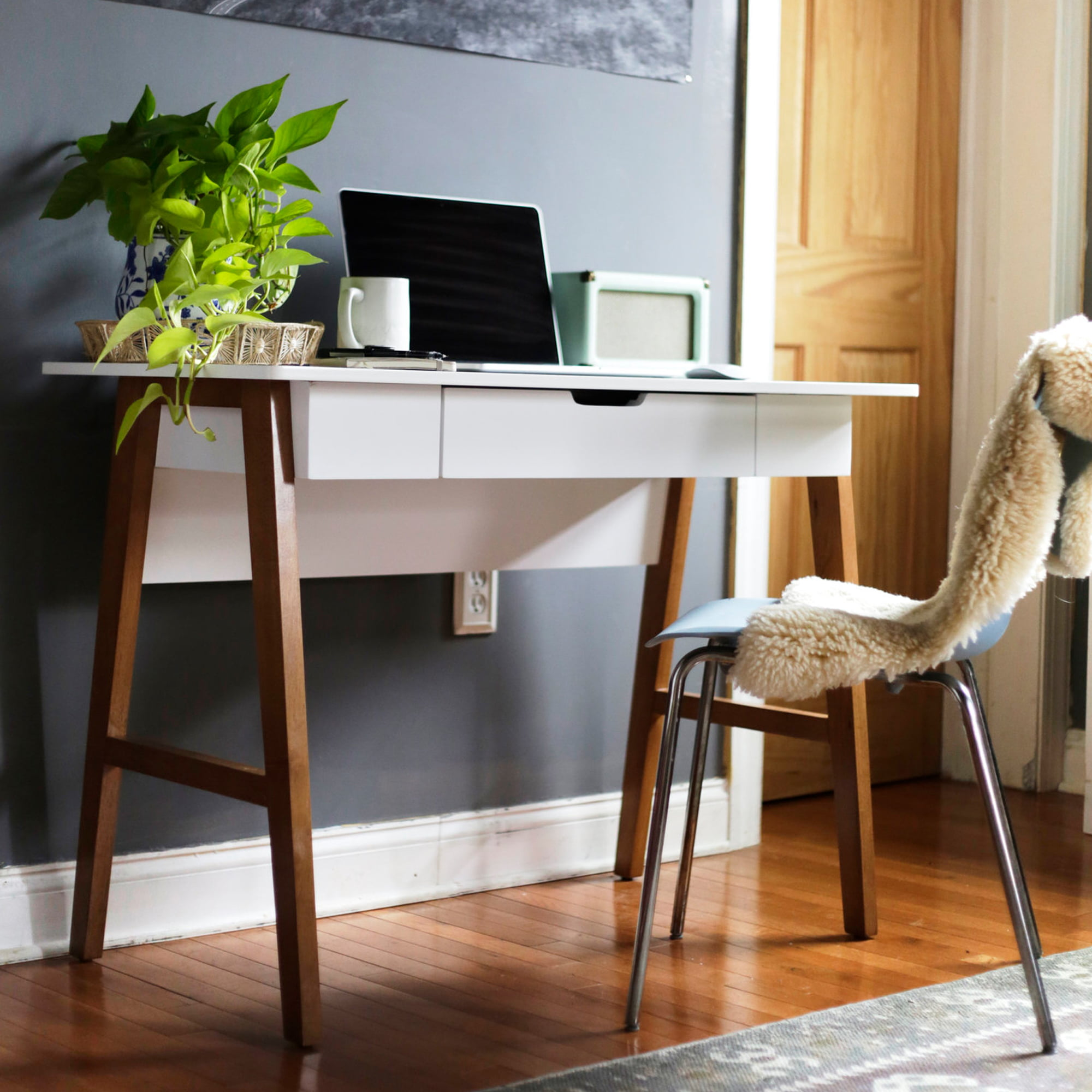 Telos Home Office Computer Desk With Drawer Or Makeup