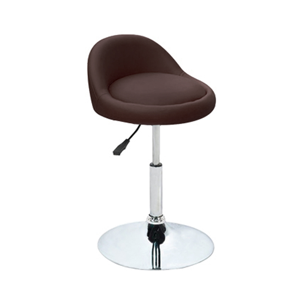Ediors Swivel Adjustable Hydraulic Leather Seat Chair Facial Massage Spa  Vanity Table Stool With Chrome Base (1PC,Drak Brown) - Walmart