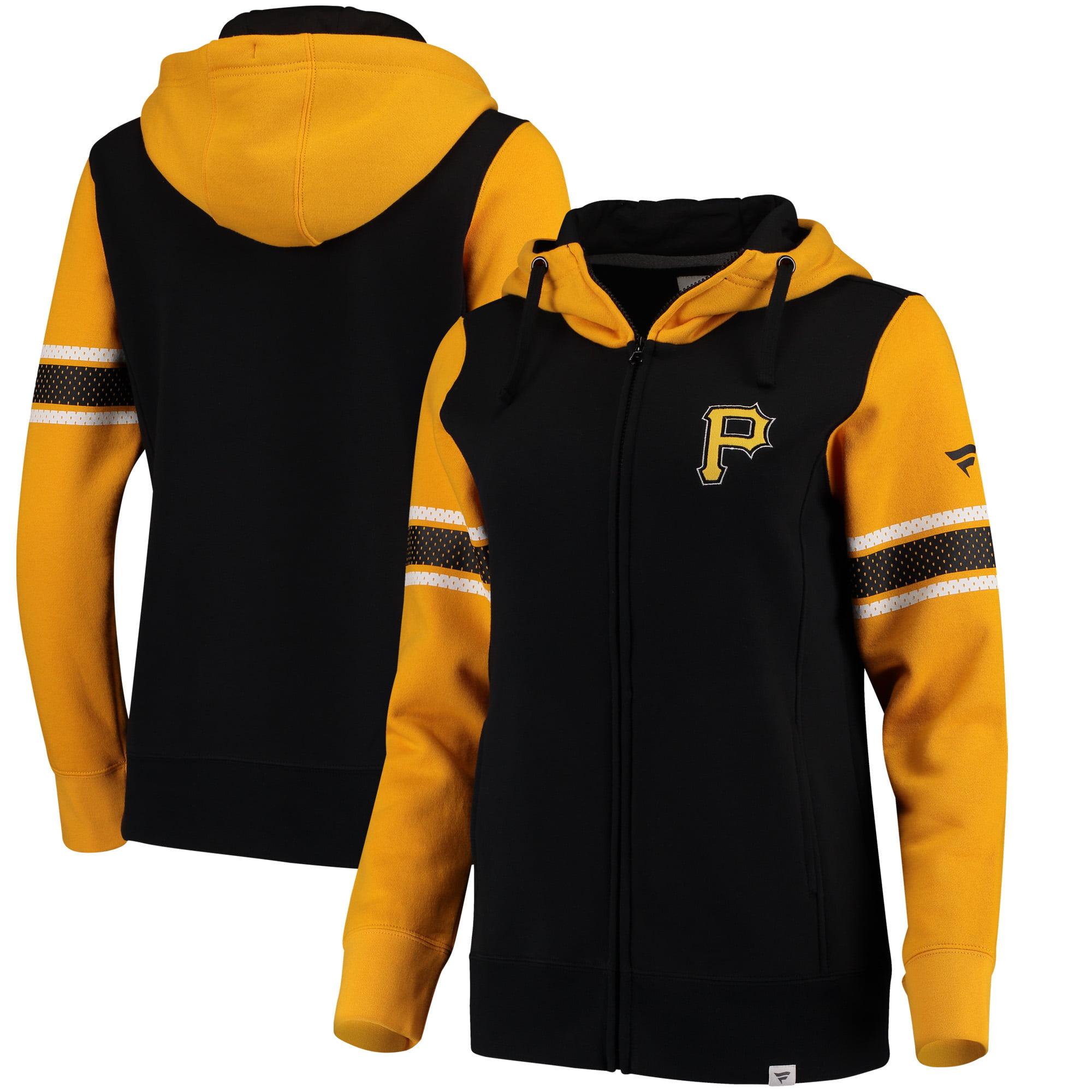 Pittsburgh Pirates Fanatics Branded Women's Iconic Full-Zip Hoodie - Black/Yellow
