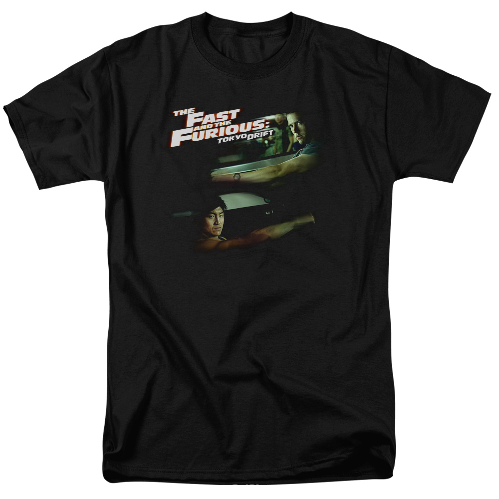The Fast and the Furious Tokyo Drift Drifting Together Mens Short Sleeve Shirt