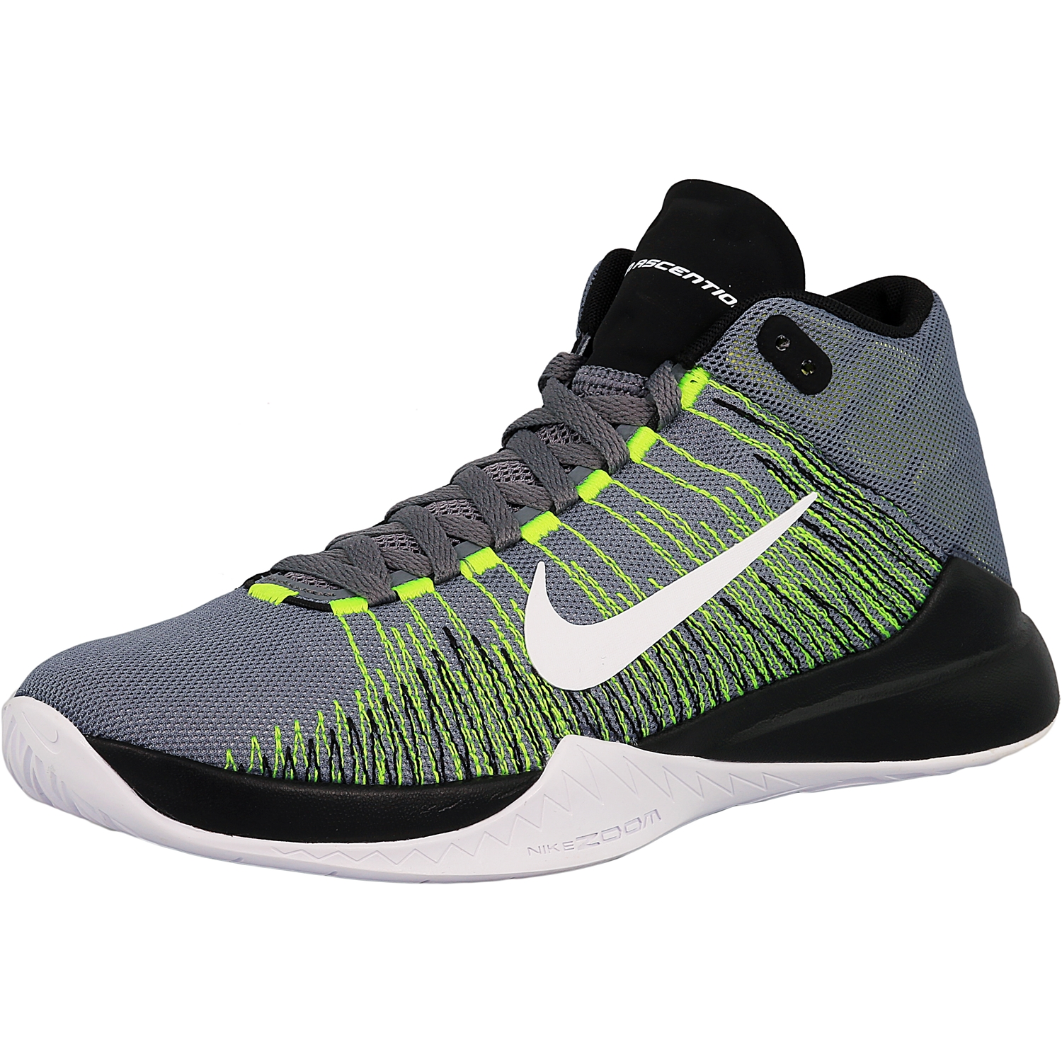 c8cc9dd58852 ... best price nike mens zoom ascention cool grey white volt black ankle  high fabric 9940c ea0bd