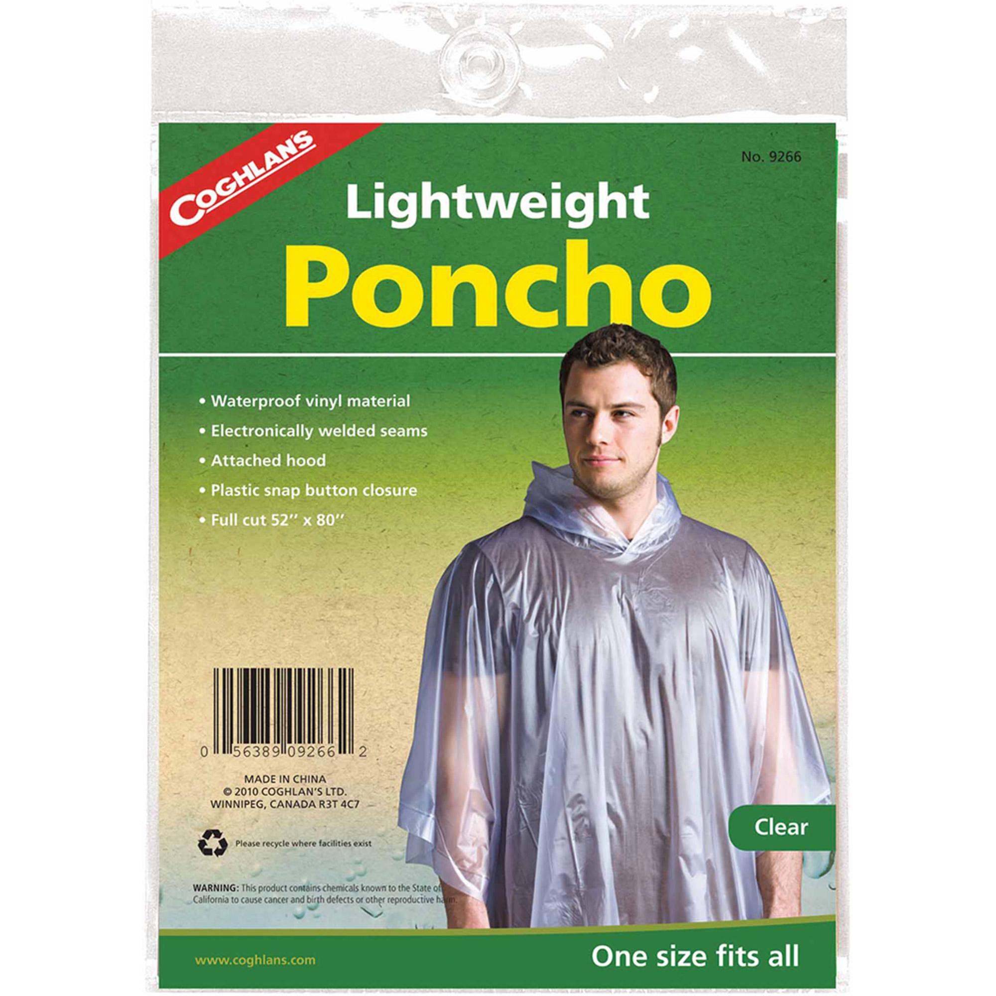 Coghlan's 9266 Poncho, Clear