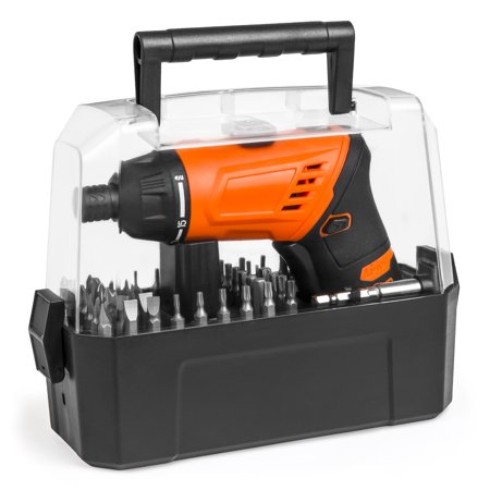 Best Choice Products 3.6V Cordless Power Electric Screwdriver w/ Charger, LED Light, 50 Bits, Twist Handle, Carry - Power Handle Screwdrivers