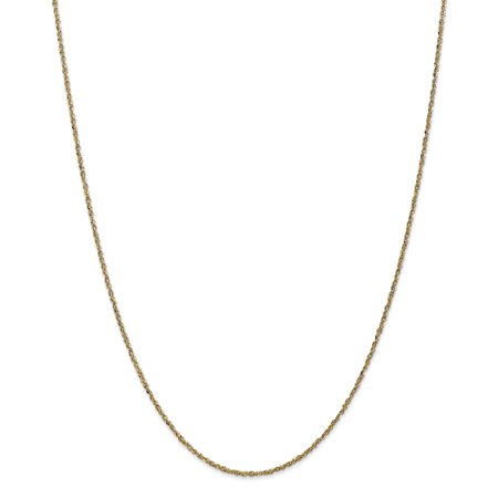 14k Yellow Gold 1.7mm Ropa Necklace Pendant Charm Chain Rope Gifts For Women For Her