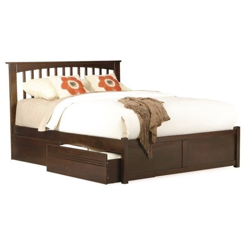 platform bed with trundle atlantic furniture platform bed w trundle in 16773
