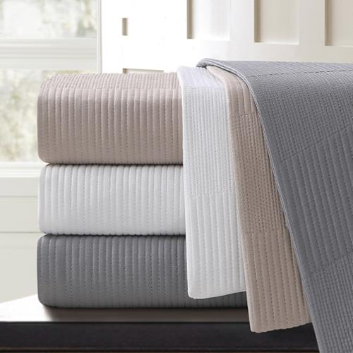 Echelon Home  Sonoma Quilted Cotton Euro Sham (Set of 2)