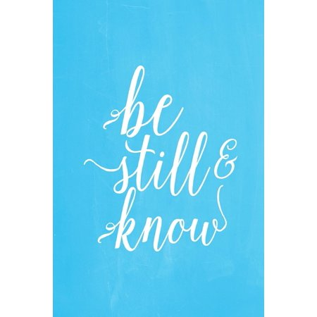 Pastel Chalkboard Journal - Be Still & Know (Light Blue): 100 Page 6 X 9 Ruled Notebook: Inspirational Journal, Blank Notebook, Blank Journal, Lined Notebook, Blank Diary (Knob Pastel)