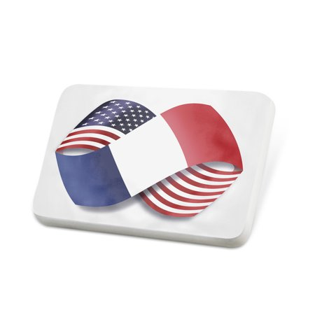 Porcelein Pin Infinity Flags USA and Reunion region France Lapel Badge – NEONBLOND