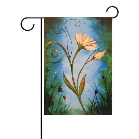POPCreation Nature Spring Summer Autumn Winter Flower Seasonal Watercolor Decorative Garden Flag 28x40 Inches Abstract Art Floral Outdoor Welcome Flag Banner for Wedding Home Garden Decor