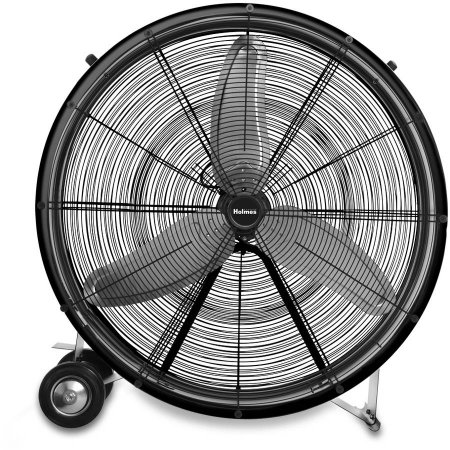 "Portable Drum Fan with Wheels 36"" Size Home Office Garage ..."