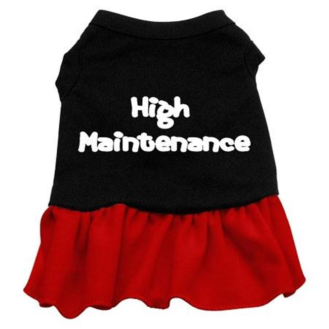 Mirage Pet Products 58-06 MDBKRD High Maintenance Dresses Black with Red Med - 12 - image 1 de 1