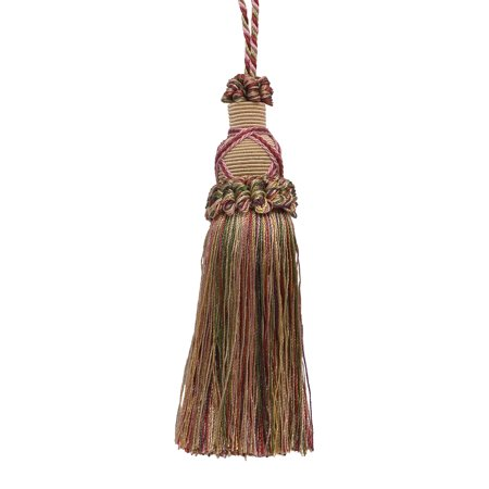 Collection White Gold Two Light - Decorative 5.5 Inch Key Tassel, Light Champagne Gold, Cherry Red and Light Olive Green Imperial II Collection Style# KTIC Color: BERRY PATCH - 4260
