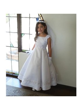 8810e0b52de Product Image Angels Garment Big Girls White Embroidered Appliques  Communion Dress 10
