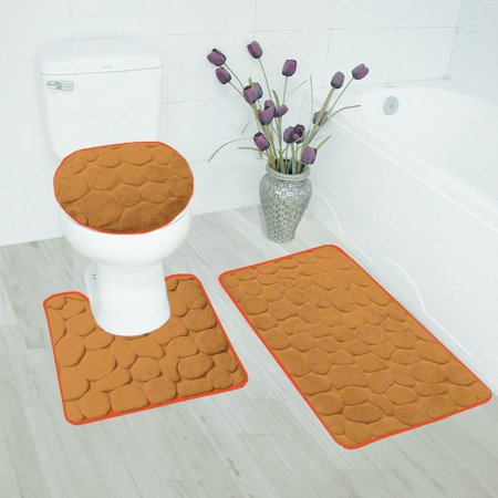 Bathroom Mats Set 3 Piece - Extra Soft Shower Bath Rugs Mat 30