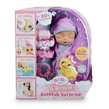 Baby Born Surprise Bathtub Surprise Purple Swaddle Princess (Princess Toy For Babies)