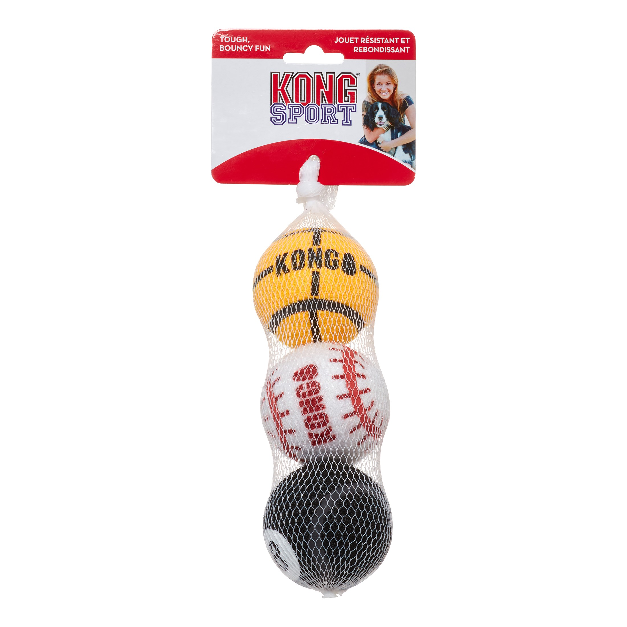 KONG Sports Balls Medium 3Pack (Assorted)