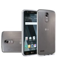 For LG Stylo 3 Case LG Stylo 3 Plus Case by HR Wireless Frosted Rubber TPU Phone Case Cover For LG Stylo 3 LS777 / LG K10 Pro / LG Stylus 3 / LG Stylo 3 Plus, Clear