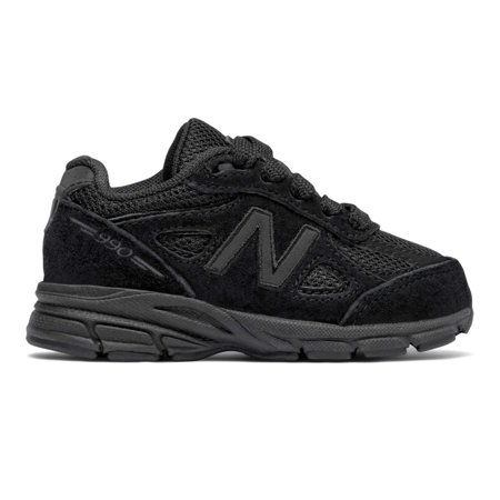 Kids New Balance Girls 990V4 Low Top Lace Up, Black, Size 5 W Us Little (New Kids On The Block Cover Girl)
