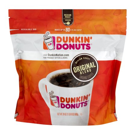 (2 Pack) Dunkin' Donuts Ground Coffee Original Blend, 24.0 OZ
