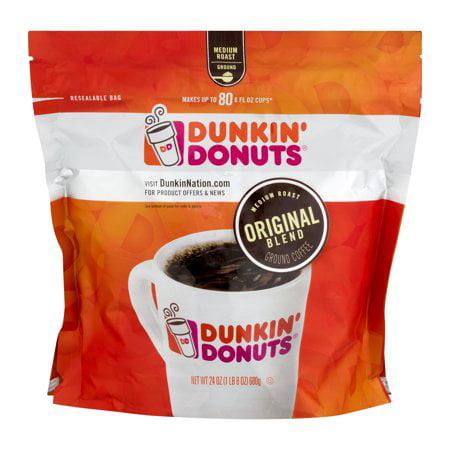 (2 Pack) Dunkin' Donuts Ground Coffee Original Blend, 24.0