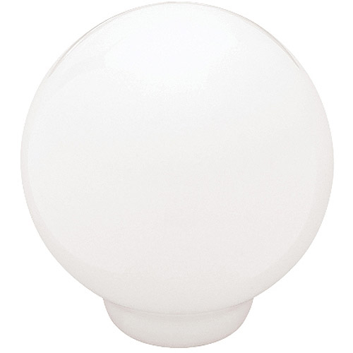 "Brainerd 1.25"" Ceramic Ball Top Knob, White by Generic"