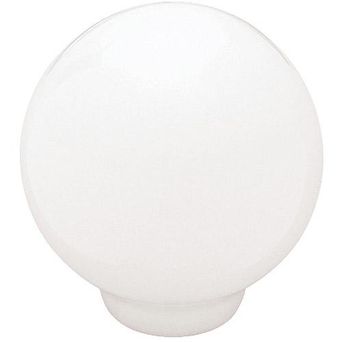 "Brainerd 1.25"" Ceramic Ball Top Knob, White"