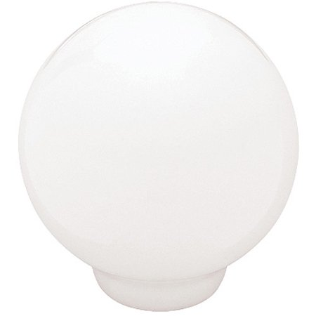 "Brainerd 1.25"" Ceramic Ball Top Knob, White"