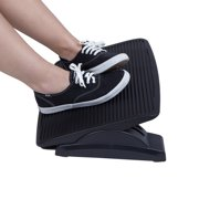Mind Reader Adjustable Height Ergonomic Foot Rest, Black