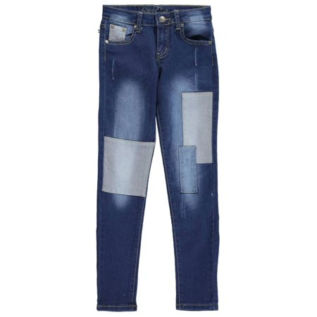 "Bamboo Big Girls' ""Light Patch"" Skinny Jeans (Sizes 7 - 16)"