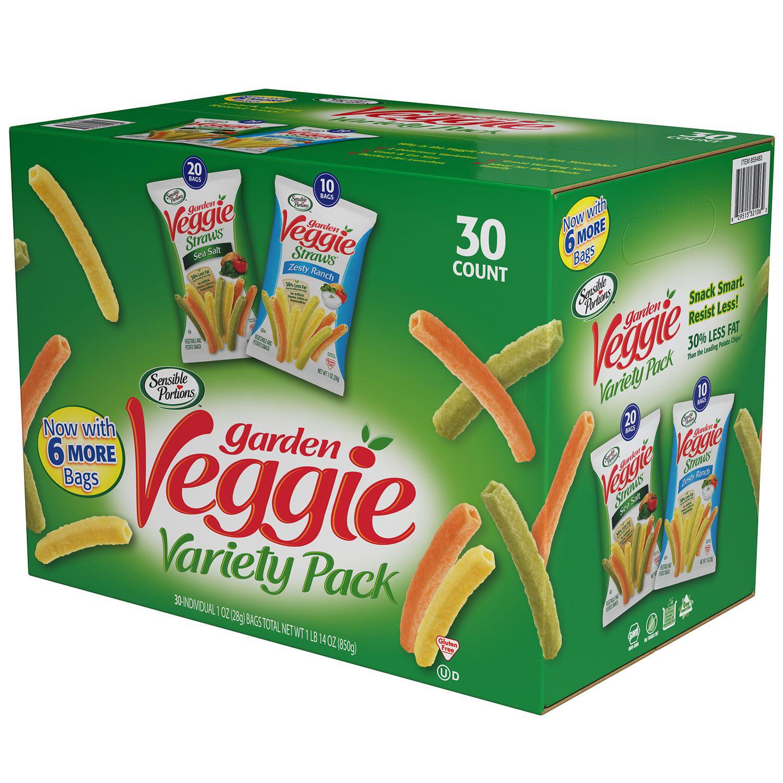 Hain Celestial Sensible Portions Veggie Snacks Variety (30 Ct.)