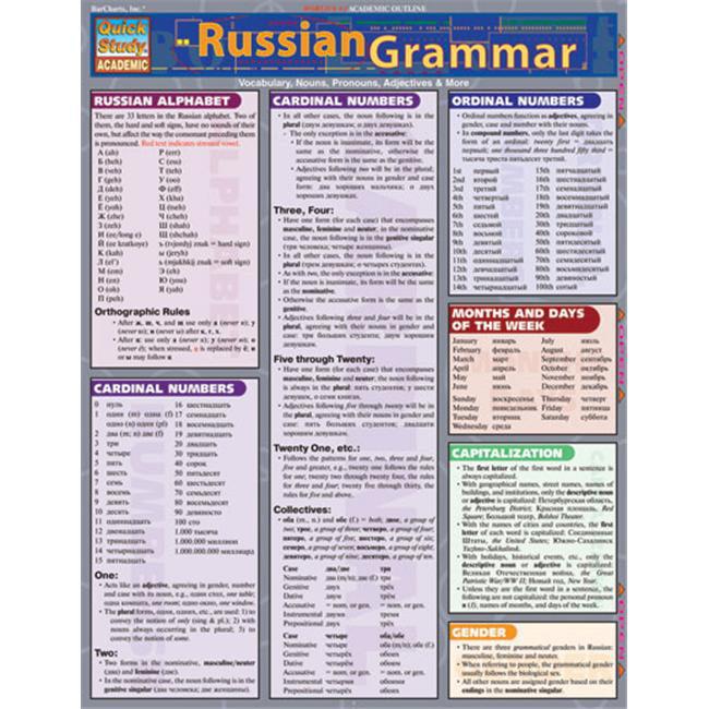BarCharts- Inc. 9781572226982 russe Grammar- Pack de 3 - image 1 de 1