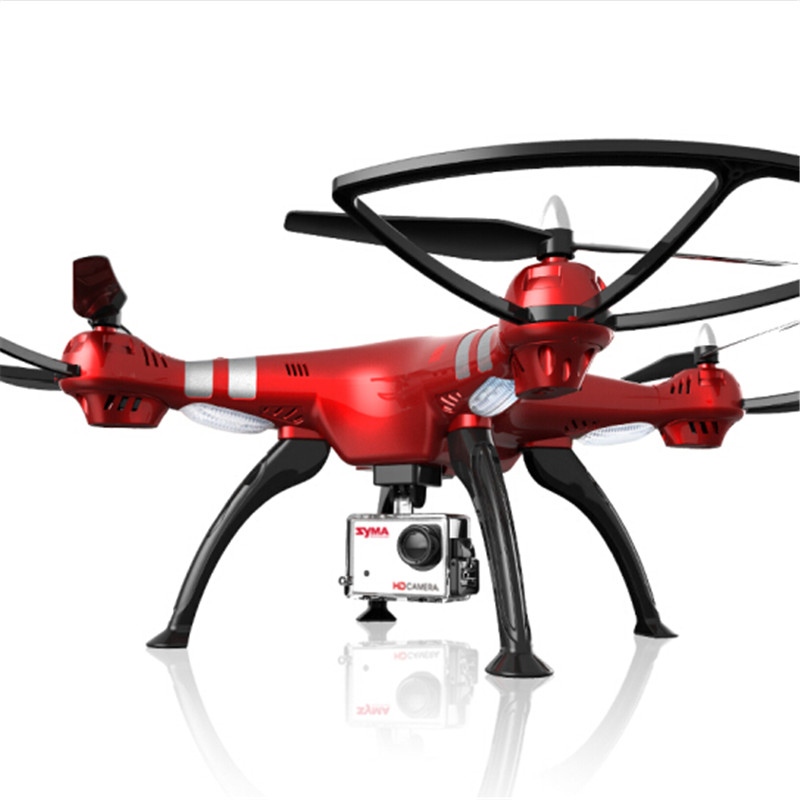 Syma X8HG 8.0MP HD Camera 2.4G 4CH 6-axis gyro RC Quadcopter Drone with Barometer Set Height Red