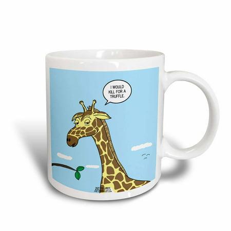 3dRose Giraffe Foraging Foibles - wanting a truffle, Ceramic Mug, 11-ounce ()