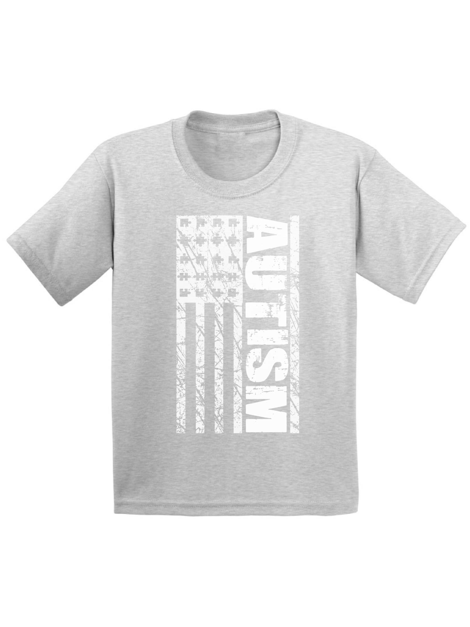 Awkward Styles Autism Flag Toddler Shirt Autism Awareness Shirts for Kids Autism Flag Tshirt Autism American Flag Shirt for Boys Autism Awareness Tshirt for Girls Autism Gifts for Kids Autism Shirts