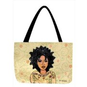 Manual Woodworkers and Weavers OTLMMI Love Me Myself Tote Bag Jacquard Woven Flower Design 17 X 12. 5 inch