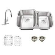 Schon SC767553 Double Basin Undermount Kitchen Sink Set