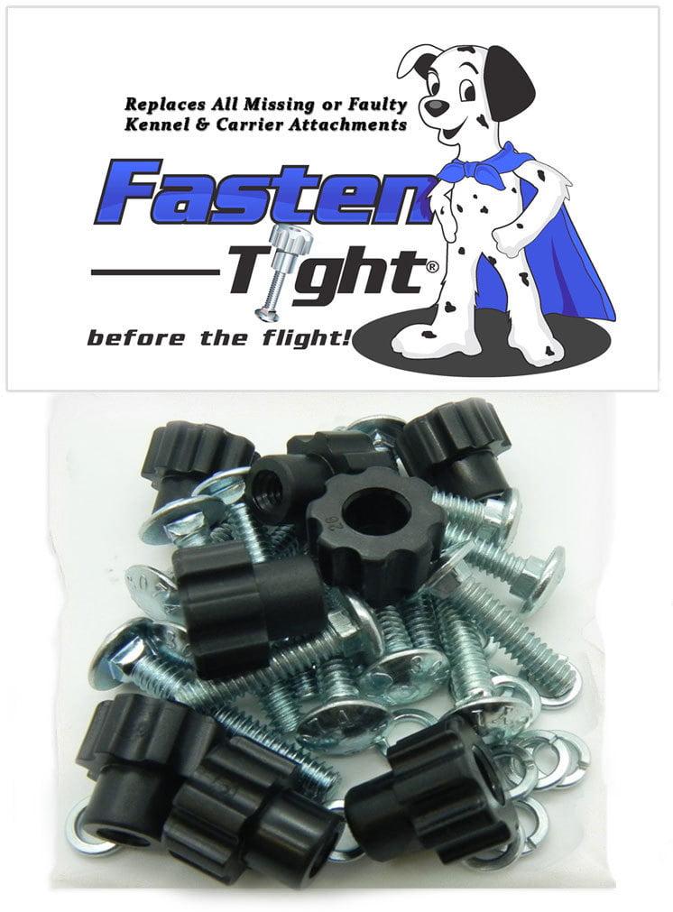 "Pet Carrier Fasteners (20pk) 1-1 4"" metal bolts BLACK Plastic Nylon Nuts by KC Pet Products-DryFur"