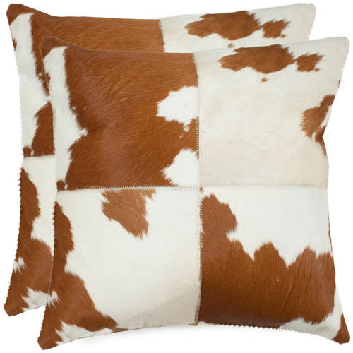 Safavieh Carley Cow Hide Pillow, Set of 2