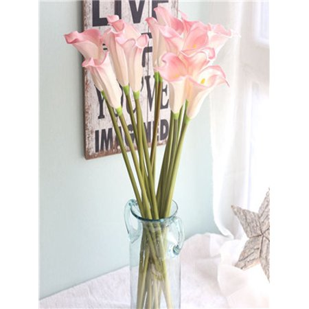 Artificial Fake Flowers Leaf Calla Lily Floral Wedding Bouquet Party Home Decor ()